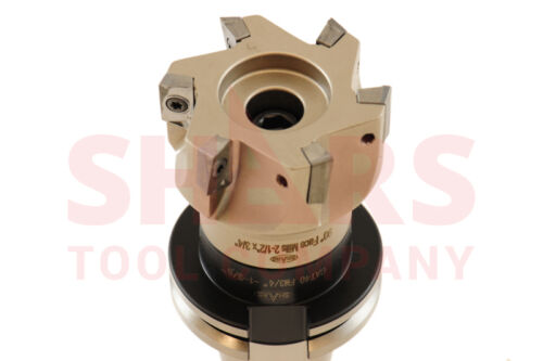 """Shars 2-1//2/"""" 90° INDEXABLE FACE MILL CUTTER USE APKT 33 W// CAT 40 Arbor NEW"""