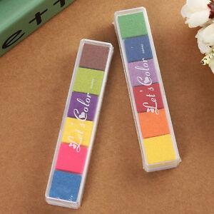 Ink-Pad-Multi-Colors-Set-Handmade-Craft-Card-Making-Scrapbooking-Rubber-Stamp