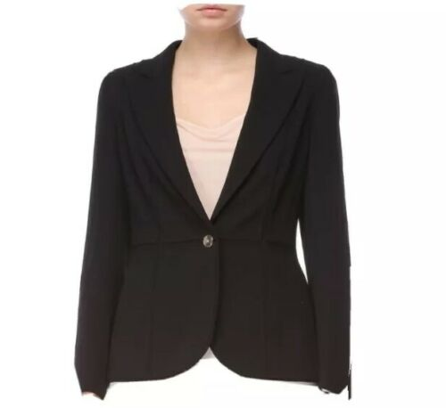 Escada Women's Black Jacket Blazer Panels Stitched