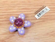 b89f33b4a Genuine Jibbitz Cute Flower Small Lavender Button Ornament For Crocs Shoes
