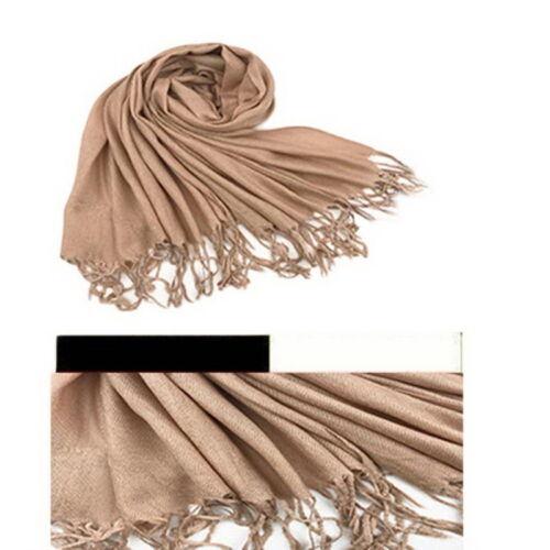 Damenschal Kaschmir Lange Schal Wrap Warm Tassels Winterschal Oversized Unifarbe