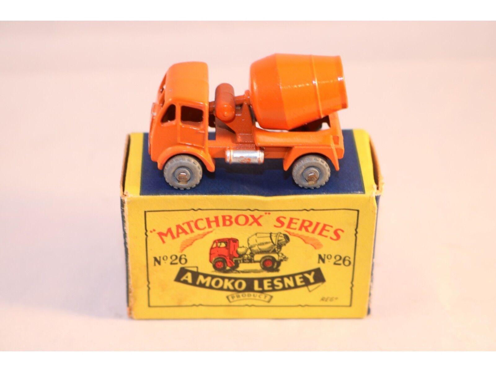 Matchbox A Moko Lesney No 26 Erf concrete mixer GMW Orange near mint in box
