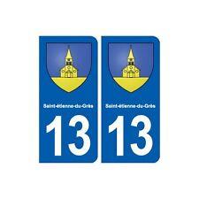 13 Saint-étienne-du-Grès blason ville autocollant plaque sticker arrondis