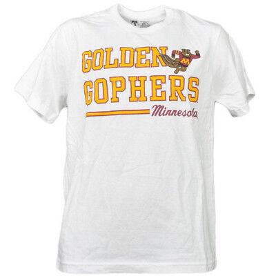 Fanartikel Ncaa Minnesota Golden Gophers Weißes Unterstreichung Logo Herren T-shirt Kurzarm Stabile Konstruktion