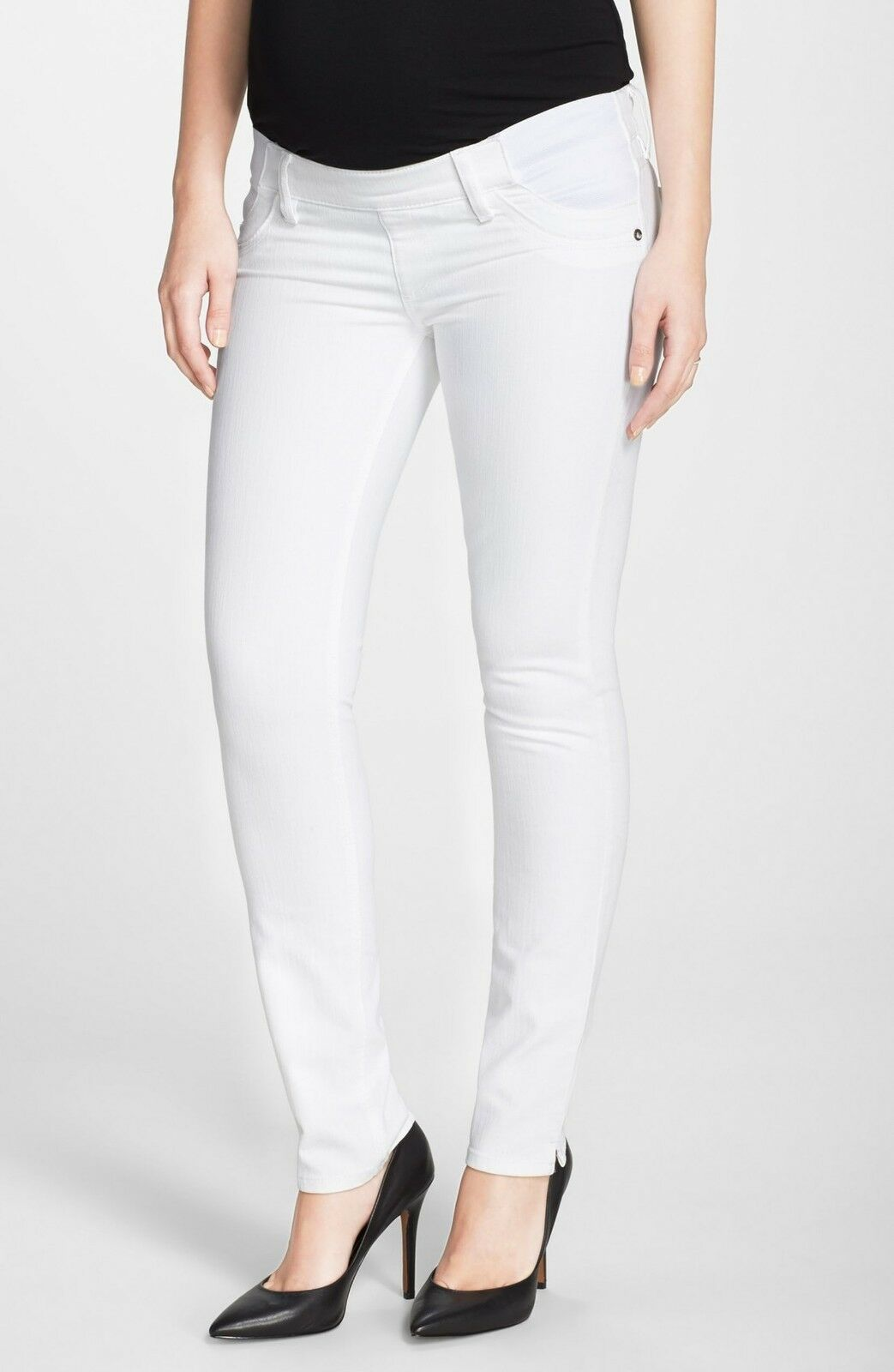 DL1961 Angel Ankle Cigarette Maternity Jean in Lilly White - Size 32