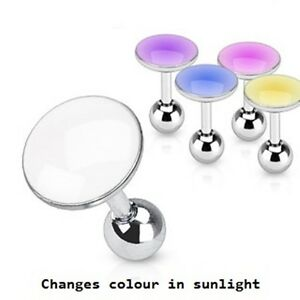 New Surgical Steel Solar Colour Changing Tragus Bar Cartilage
