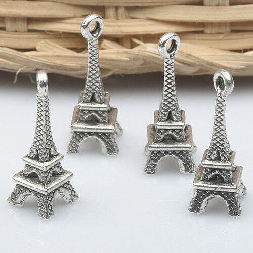 16pcs Tibetan Silve Eiffel Tower charm pendants X0154