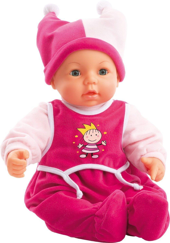 Kinder Puppe Bayer Design Funktionspuppe Hello Baby für Puppenbett Fläschchen