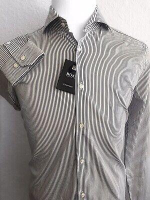 Men/'s BOSS Hugo Boss Tailored Dress Shirt White Slim Fit