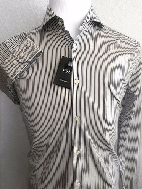 Hugo Boss Black Authentic Men Long Sleeve Slim Fit Shirt Size Xl Brand New Clothing, Shoes, Accessories