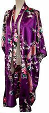 Kimono Peacock PREMIUM gown dressing sexy Peacock robe Violet Purple