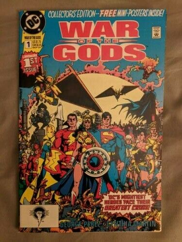 DC 1991 1st App Circe Poster Included DC Comics War of the Gods #1