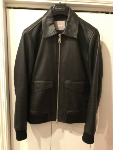 Everlane Bomber leather jacket, size Medium.