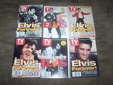 6 Elvis TV Guides (4) Aug 1997, (2) Jan 2000 in GREAT Shape