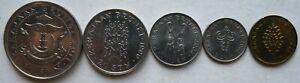 Brunei 5 pcs 3rd Series (50 sen, 20 sen, 10 sen, 5 sen & 1 sen) set coin