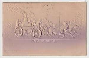 D2244 : 1907 en Relief Feu Moteur Carte Postale; Brooklyn