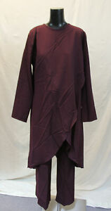 Burun-Women-039-s-2-Piece-Tunic-amp-Trousers-Double-Suit-LP7-Purple-Size-US-12-46-NWT