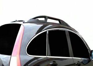 BARRE-LONGITUDINALI-NERE-CORRIMANO-RAILING-DA-TETTO-Honda-CRV-2007-2012