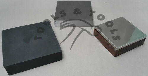 RUBBER /& STEEL WITH WOODEN BASE BENCH BLOCK DAPPING JEWELRY TOOLS FORGING STEEL