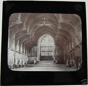 Glass-Magic-lantern-slide-WESTMINSTER-HALL-LONDON-C1890-HOUSE-OF-LORDS