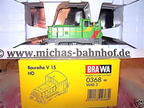 V15 WAB 3 Diesellok Almetalbahn BRAWA 0368 NEU 1 87 µ