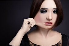 Silicone rubber female mask ultra-realistic with facial movements (SF-N14)