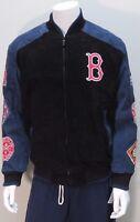 2004 World Series Boston Red Sox Suede Leather Jacket MLB Baseball - Carl Banks