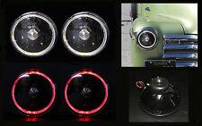 "H6012 H6015 H6024 7"" Red Halo Black Diamond Headlights"