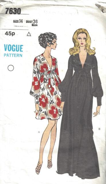 1969 Vintage Vogue-schnittmuster Kleid B38 (1754) | eBay