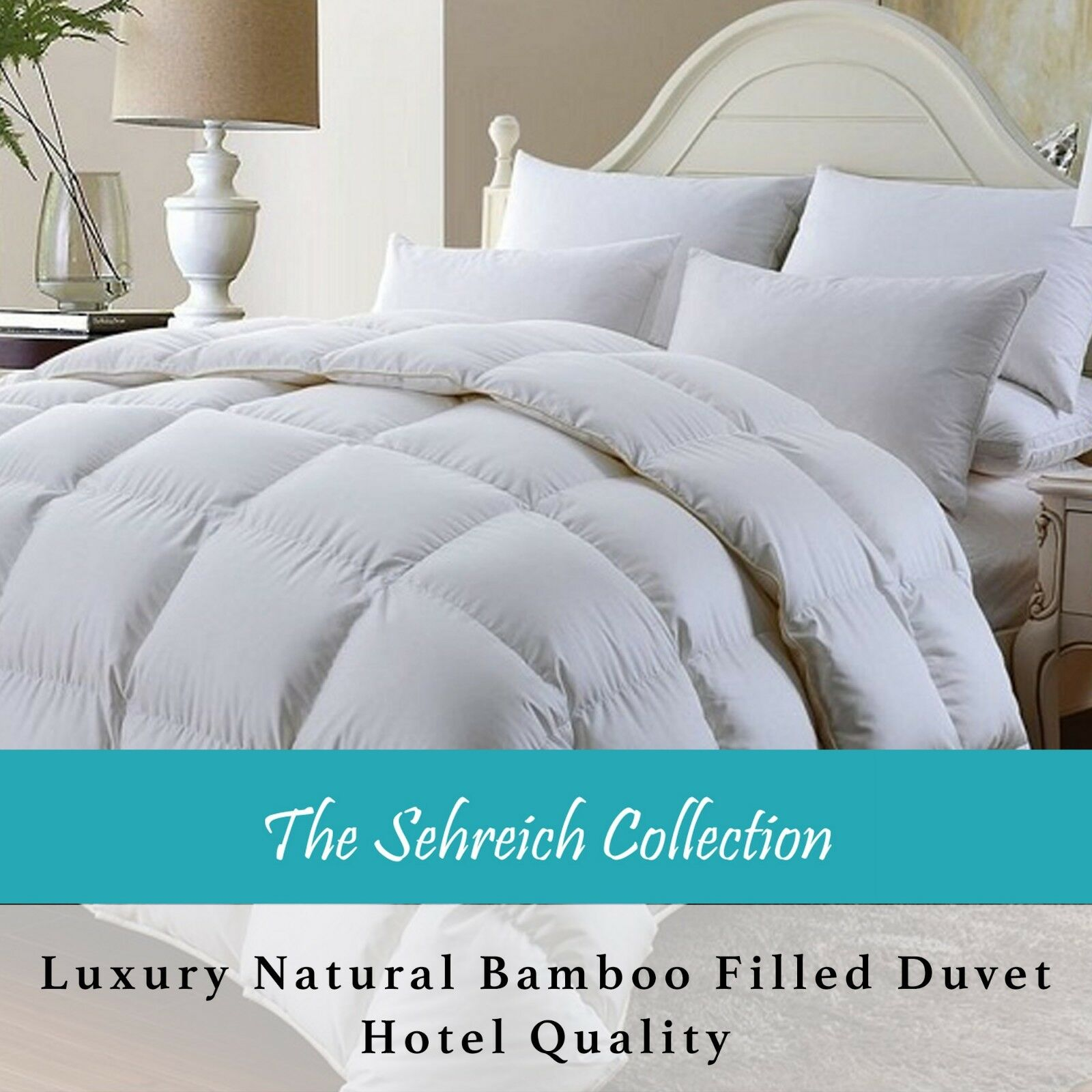 100% Organic Natural Bamboo Duvet Quilt Hotel Quality Anti Bacterial Comforter