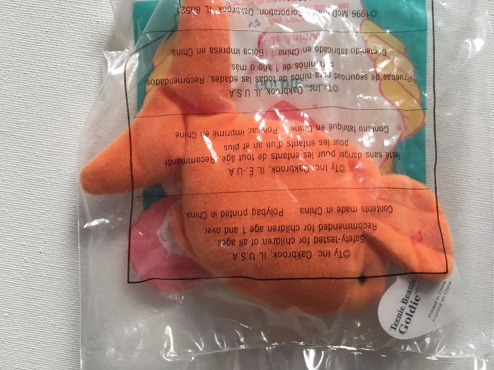 1993 TY McDonalds Teenie Beanie Beanie Beanie Baby goldIE with tags IN BAG NEW EX CONDITION a5c3ba