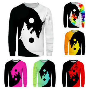 Men-039-s-3D-Printed-Long-Sleeve-O-Neck-T-Shirt-Casual-Pullover-Sweater-Blouse-Tops