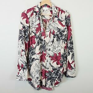 [ WITCHERY ] Womens Floral Print Long Sleeve Blouse  | Size 8