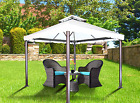 Aluminum Soft Top Gazebo Rome - 10x10 with Mosquito Netting Included