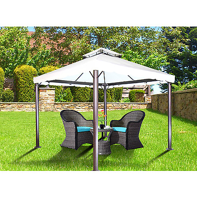 Aluminum Soft Top Gazebo Rome 10x10 with Mosquito Netting