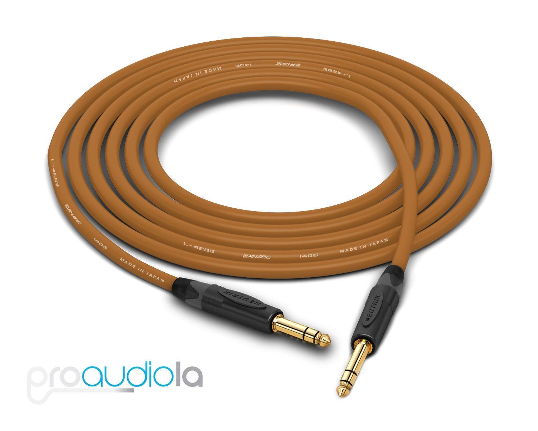 Canare Quad L-4E6S Cable   Neutrik Gold 1 4  TRS   braun 125 Feet   125 Ft. 125'