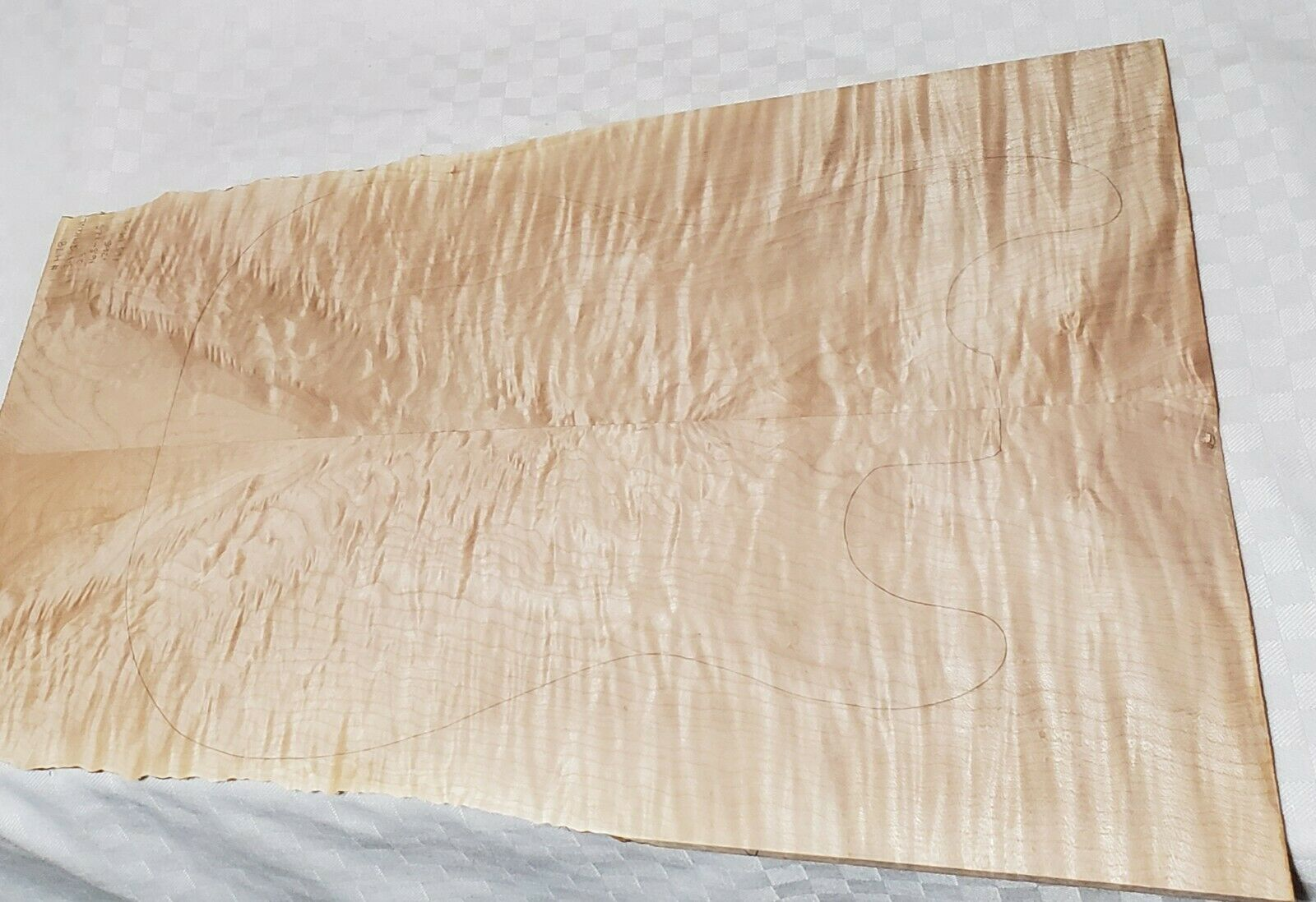 Drop Top- 478--3A Grade Quilt Curl Maple 23 x16.35 -12.5 x.265
