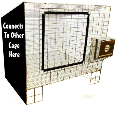 1 RITE FARM PRODUCTS ADD ON 24X24 WIRE RABBIT CAGE BUNNY INDOOR OUTDOOR MEAT