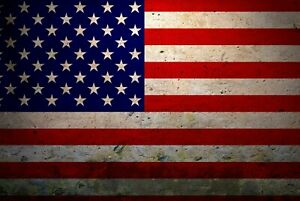 A1-American-Flag-Poster-Art-Print-60-x-90cm-180gsm-USA-Vintage-Cool-Gift-8879