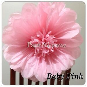 Large pink paper flowers x 5 bulk wedding flowers party events wall image is loading large pink paper flowers x 5 bulk wedding mightylinksfo