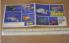 1976 Dinky Die-Cast Toy Catalogue #12. Star Trek, Space 1999, UFO, Thunderbirds