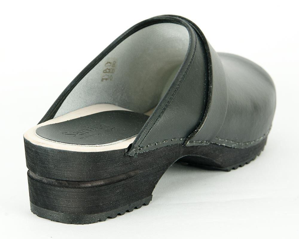 Sanita RALPH OPEN Clogs Holzclogs Leder schwarz black PU Leather Leder Holzclogs 1500199M NEU 553c6f