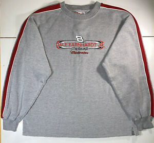 NASCAR-Dale-Earnhardt-Jr-Budweiser-Sweatshirt-Medium-Gray-Chase-Authentics