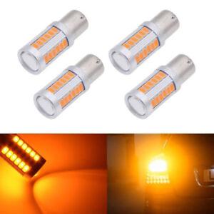 Stuecke-Bernstein-Helligkeit-LED-1156PY-BAU15S-PY21W-LED-33SMD-Tail-Pause-Parken