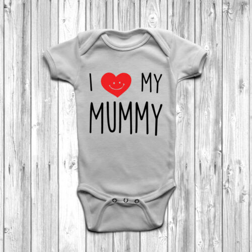 I Love My Mummy Baby Grow Body Suit Vest Cute Heart 0-18 Months Mothers Day