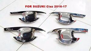 CHROME-BOWL-HANDLE-INSERT-COVER-TRIM-NEW-SUZUKI-CIAZ-2016-17