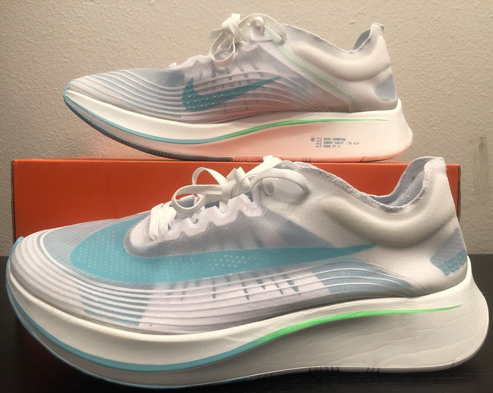 super popular 1448e 507a8 Nike Zoom Fly SP Running Shoes London Rage Green Aj9282 103 for sale online    eBay