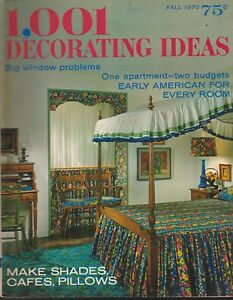 Details about 1,001 DECORATING IDEAS MAGAZINE FALL 1970 *EARLY AMERICAN FOR  EVERY ROOM*