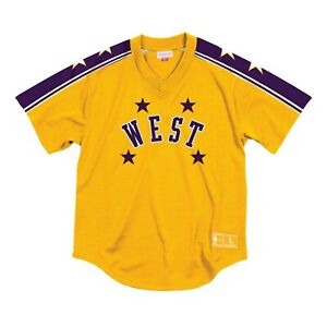 2019008c9 Jerry West 1972 Mesh V-Neck Pullover Jersey NBA All-Star Mitchell ...