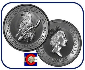 Silver Coin 1993 Australia Kookaburra 1 oz BU direct from Perth Mint roll